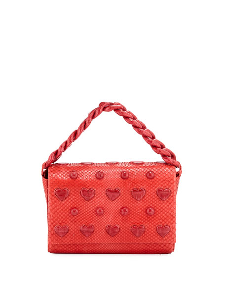 Nancy Gonzalez Small Heart Carrie Clutch Bag