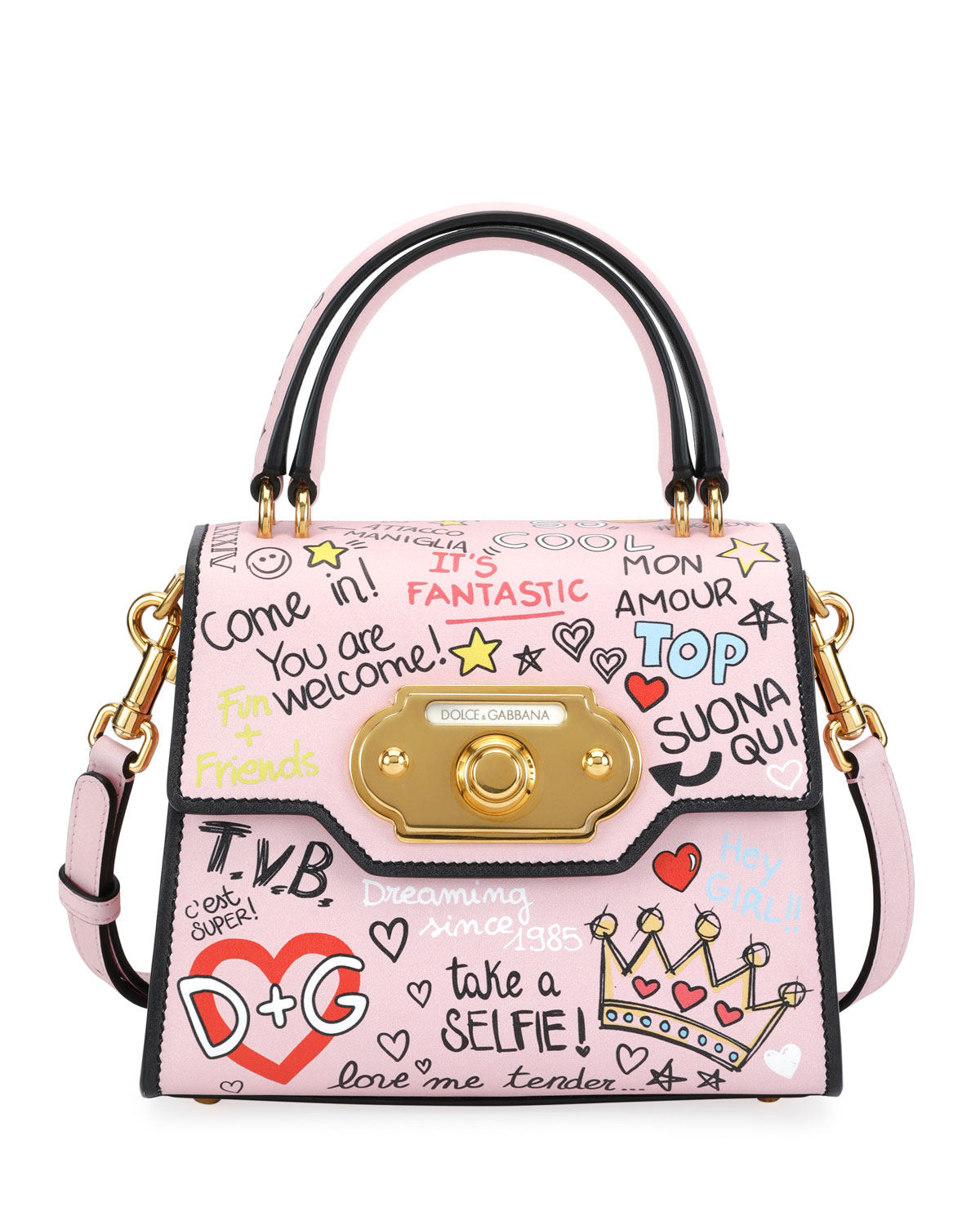 Dolce   Gabbana Welcome Graffiti Small Shoulder Bag  4d7f4ed5114dc