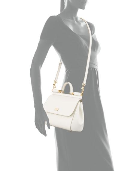Sicily Medium Calf Leather Satchel Bag