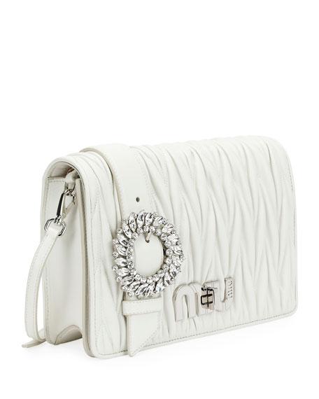 My Miu Matelassé Leather Small Clutch Bag