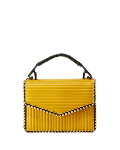 Lulu Top Handle Bag with Metal Piping