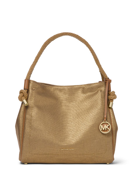 MICHAEL Michael Kors Isla Large Metallic Leather Tote