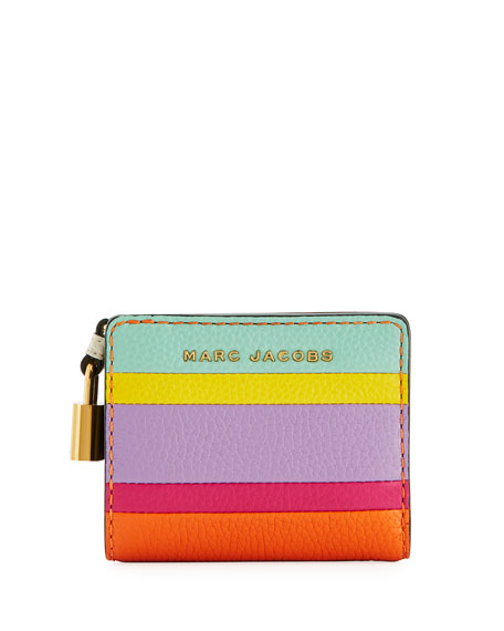 Marc Jacobs Mini Compact Striped Wallet