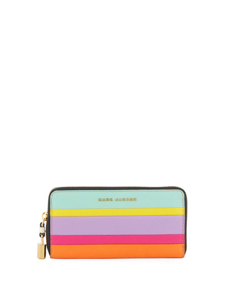 Marc Jacobs Standard Striped Continental Wallet