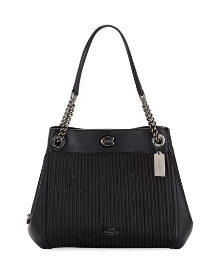 Coach Edie Quilted Leather Shoulder Bag