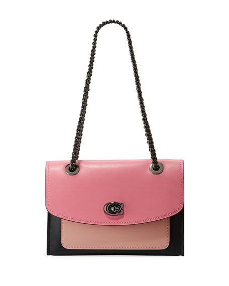 Parker Colorblock Leather Shoulder Bag