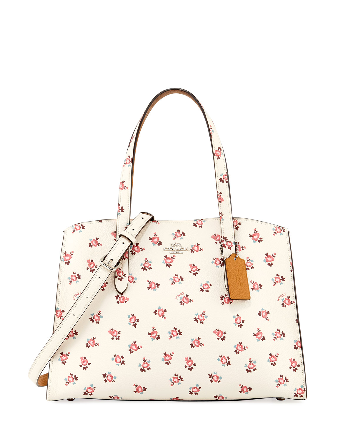 74993b687c Charlie Floral Bloom Leather Carryall Tote Bag