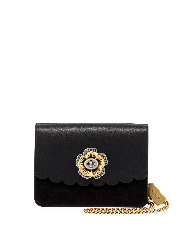 f03c54f4e625f Coach Tea Rose Leather Bowery Turn-Lock Crossbody Bag