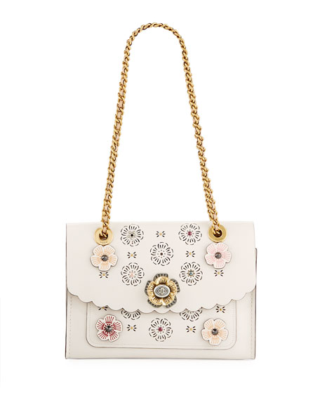 Coach Parker Tea Rose Cutout Shoulder Bag