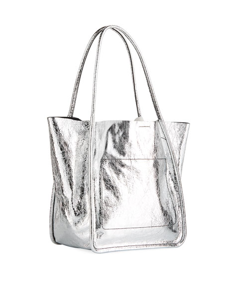 Large Metallic Tote Bag