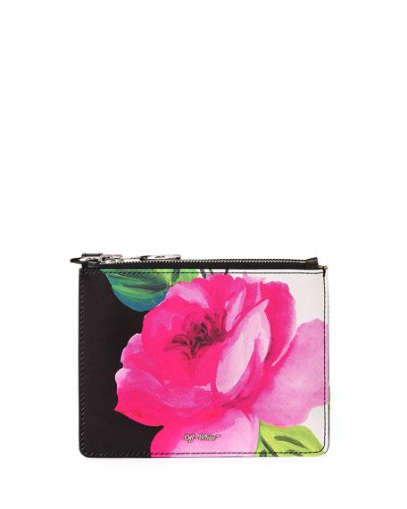 Floral Double Flat Clutch Bag