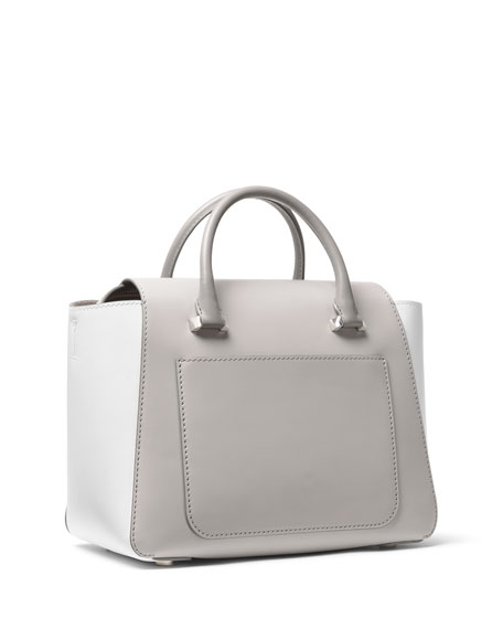 Nolita Medium Colorblock Satchel Bag - Silver Hardware