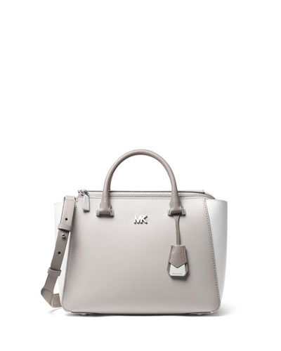 Mott Metro Medium Colorblock Satchel Bag - Silver Hardware