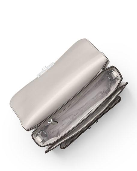 Sloan Editor Large Shoulder Bag - Silver Hardware