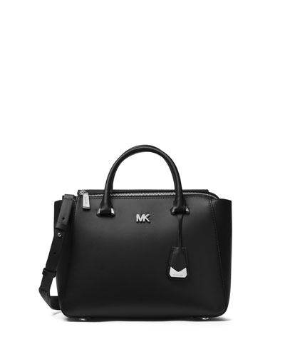 Mott Metro Medium Satchel Bag - Silver Hardware