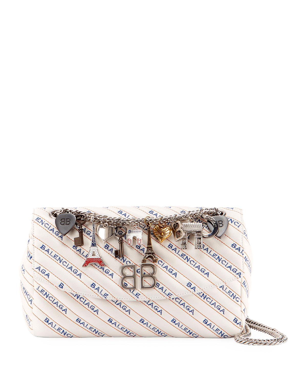 46c497a1b5 Balenciaga BB Logo Matelasse Leather Chain Shoulder Bag | Neiman Marcus