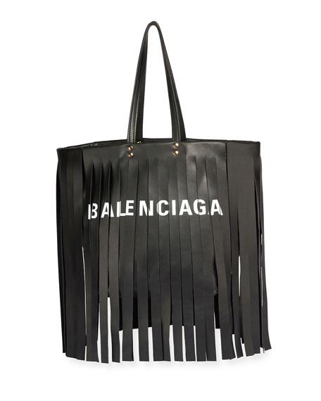 Laundry Cabas Satchel Bag with Fringe Detail