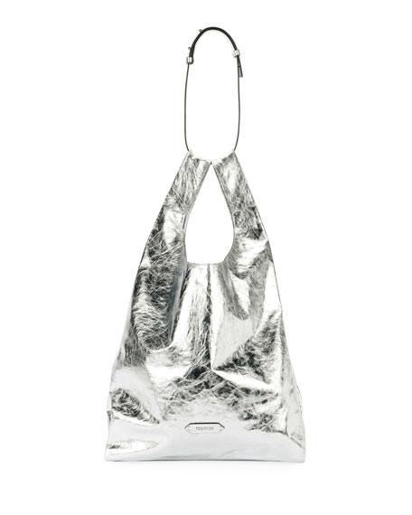 Metallic Paper Leather City Tote Bag