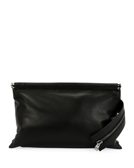 Flat East/West Framed Clutch Bag