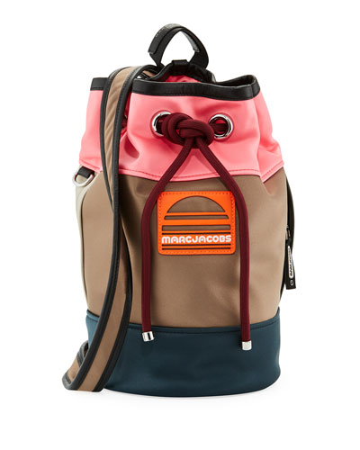 Small Sport Sling Colorblock Backpack Bag