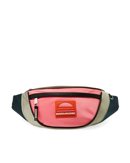 SPORT COLORBLOCK FANNY PACK - CORAL