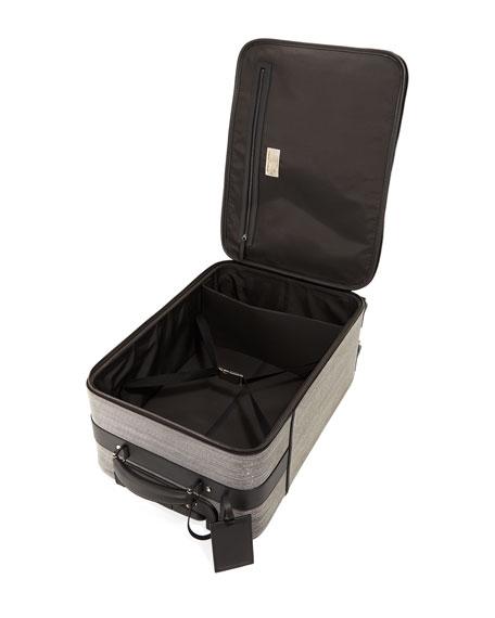 Glitter Leather and Monili Trolley Bag Luggage