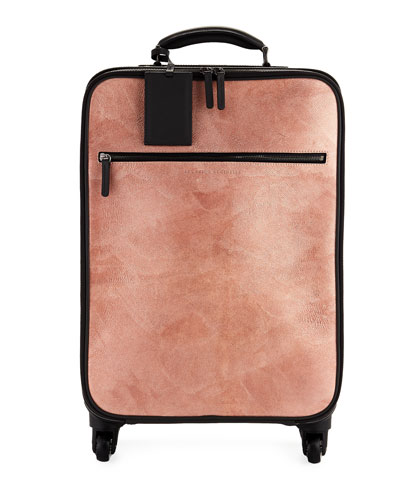 Glitter Leather and Monili Trolley Bag Luggage