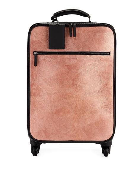 Brunello Cucinelli Glitter Leather and Monili Trolley Bag