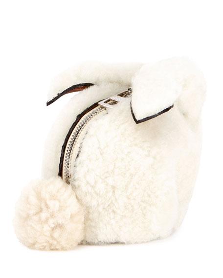 Shearling Fur Bunny Coin Purse