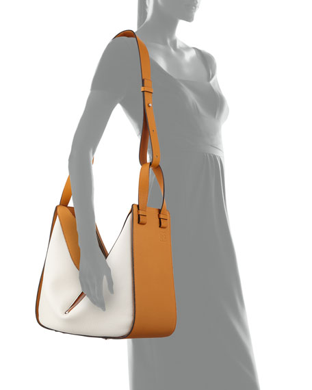 Loewe Hammock Medium Colorblock Leather Satchel Bag