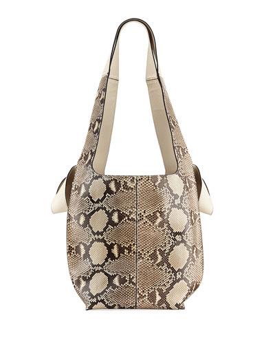 Python Two-Tone Hobo Tote Bag