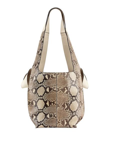 Python Two-Tone Hobo Tote Bag
