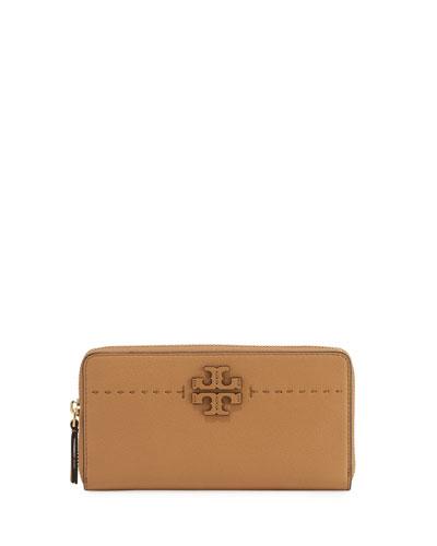 McGraw Zip Continental Wallet