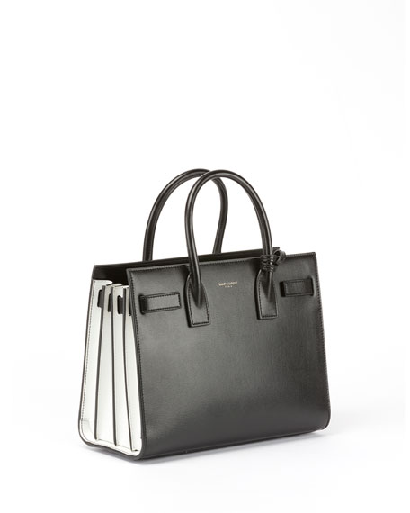 Sac de Jour Small Structured Bicolor Leather Tote Bag