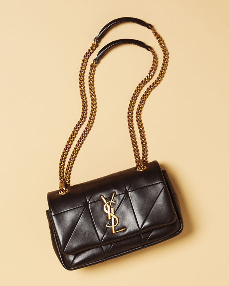 Image 2 of 2  Jamie Monogram YSL Small Diamond-Quilted Chain Shoulder Bag ff917a21f1b4c