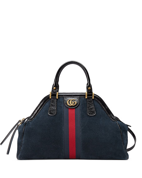 Gucci RE(BELLE) Large Suede Top Handle Bag