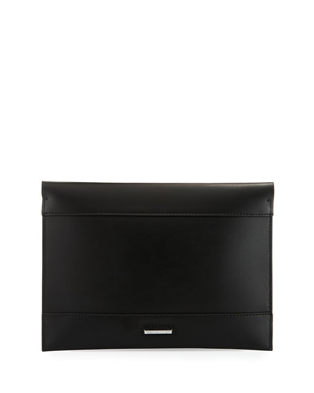 Leo Leather Clutch Bag