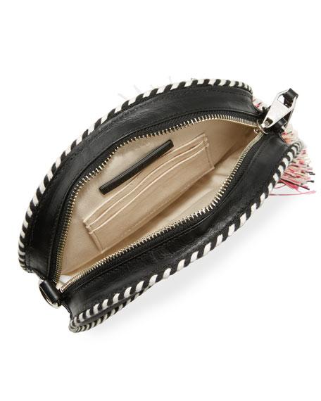 Straw Circle Crossbody Bag