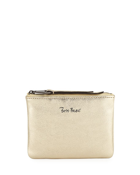 Rebecca Minkoff Betty Boss Babe Pouch Card Case