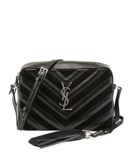 Saint Laurent Lou Medium Chevron-Quilted Camera Shoulder Bag