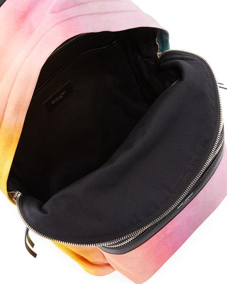 Large Tie-Dye Satin Backpack