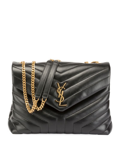 Loulou Monogram Medium Quilted V-Flap Chain Shoulder Bag