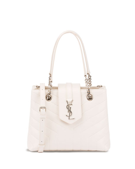 Loulou Small Quilted Leather Tote Bag - Silvertone Hardware