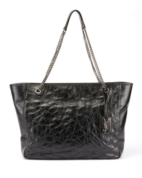 Niki Large Quilted Double-Chain Tote Bag