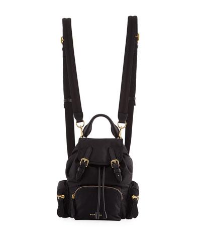 Prorsum Small Leather-Trim Nylon Rucksack Backpack