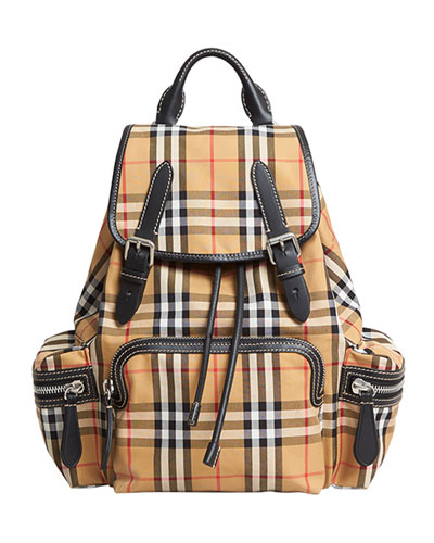 Small Rucksack Vintage Check Sailing Backpack