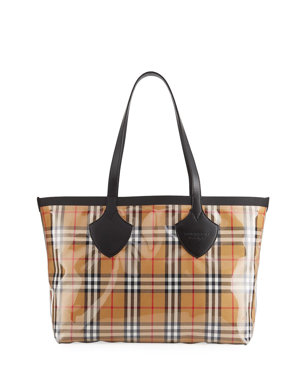 778d83778a52 Burberry Giant Transparent Vintage Check Tote Bag