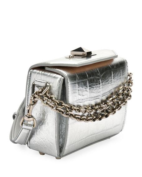 Box 16 Metallic Embossed Shoulder Bag