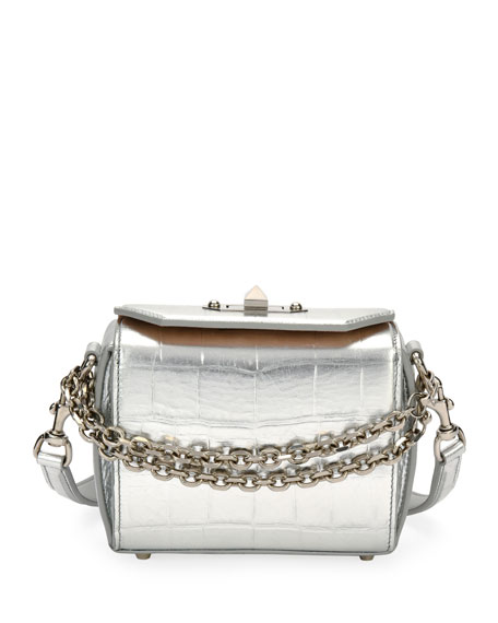 Box 16 Metallic Embossed Shoulder Bag by Alexander Mc Queen