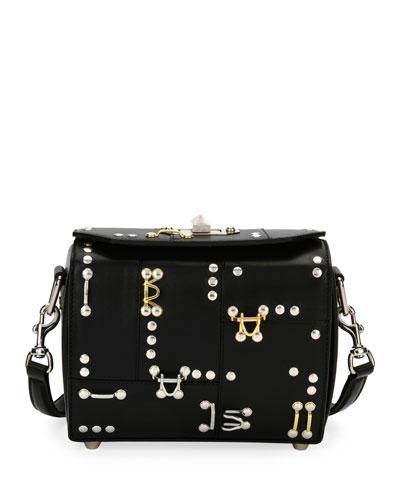 Box Bag 19 Hook/Eye Leather Shoulder Bag